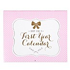 Carter's® Sweet Sparkle Baby Girl's First Year Calendar in Pink