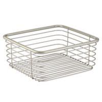 InterDesign® Forma® Small Ultra Basket in Satin Nickel