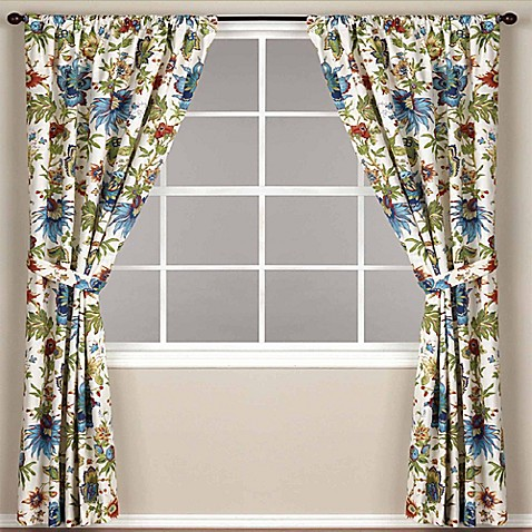World MarketR Floral Fiesta Rod Pocket 108 Inch Window Curtain Panel
