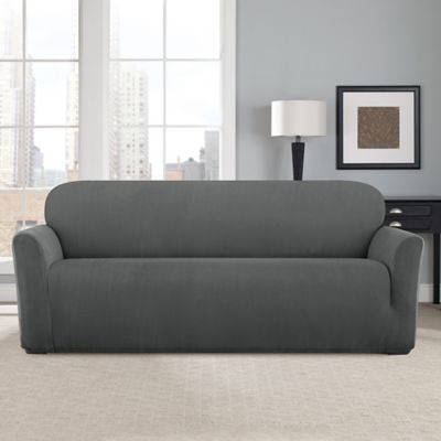Sure Fit Modern Chevron Sofa Slipcover Bed Bath Beyond