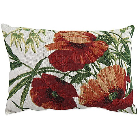 The Vintage House by Park B. Smith Poppies Tapestry Oblong Throw Pillow - Bed Bath & Beyond