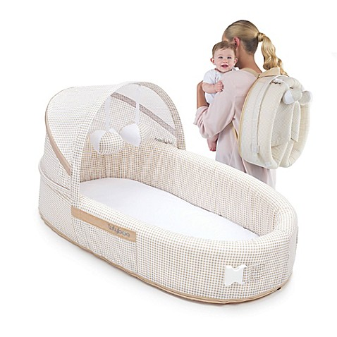 Lulyboo 174 Baby Lounge To Go Travel Bed In Natural Bed