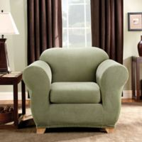 Sure Fit® Madison Stripe Chair Slipcover in Sage