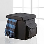 Studio 3B™ Cargo Folding Ottoman in Black