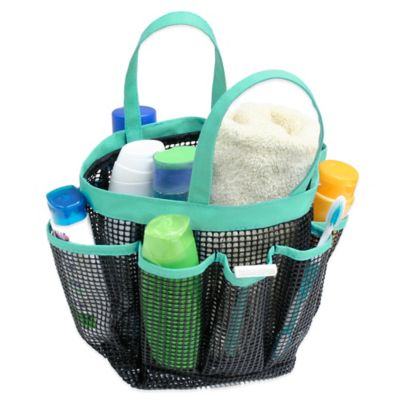 Mesh Shower Tote buy aqua shower tote from bed bath & beyond