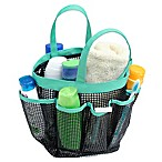 Mesh Shower Tote in Aqua