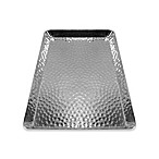 Large Hammered Aluminum Guest Towel Holder in Silver
