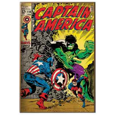Captain America and Hulk Wall Décor Plaque