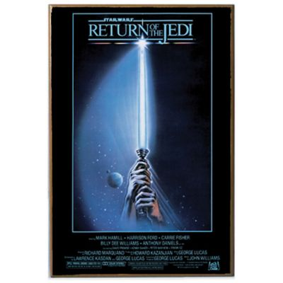 star wars return of the jedi movie poster wall dcor plaque