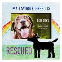 "CR Gibson 8-Inch x 8-Inch ""My Favorite Breed is Rescued"" Dog Lover Pet Frame with Easel Back"