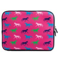 Tek Trek Neoprene Zippered iPad Sleeve with Horse Graphic in Pink