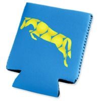 Tek Trek Neoprene Koozie with Black Horse Graphic in Light Blue