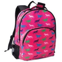Tek Trek Backpack with Horse Print in Pink
