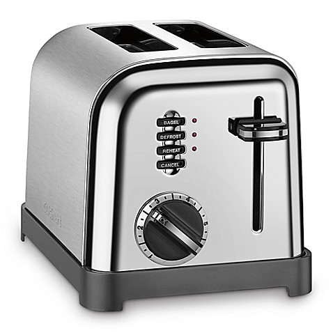 Cuisinart 2 Slice Toaster in Brushed Stainless Steel Black Bed Bath & Beyond