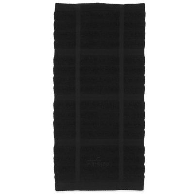 All-Clad Solid Kitchen Towel in Black