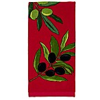All-Clad Olive Branch Print Kitchen Towel in Chili