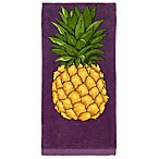 All-Clad Pinapple Print Kitchen Towel in Plum