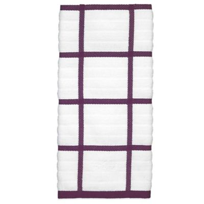 All Clad Coordinate Kitchen Towel In Plum