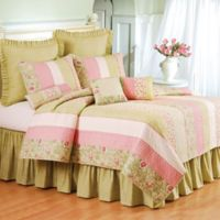 Amberly Full/Queen Quilt in Green/Pink