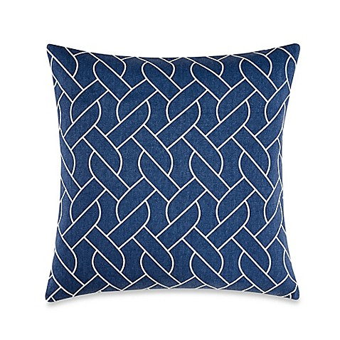 Nautica Decorative Pillows Navy : Nautica Makay Square Throw Pillow in Navy - Bed Bath & Beyond