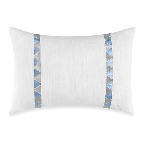 Nautica Makay Breakfast Throw Pillow in White/Aqua - Bed Bath & Beyond