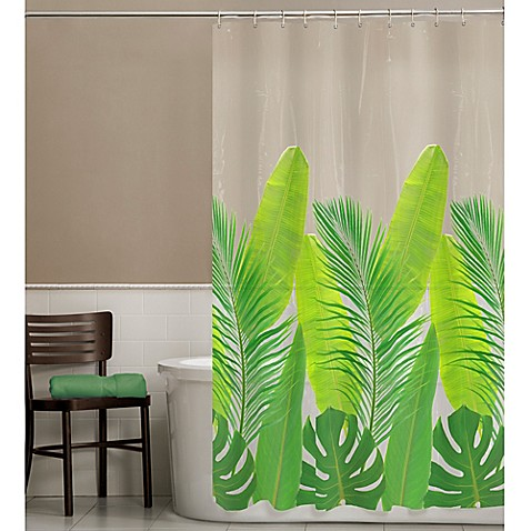 PEVA Tropical Leaf Shower Curtain