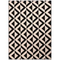 Jaipur Marquise 5-Foot 3-Inch X 7-Foot 6-Inch Indoor/Outdoor Rug in Ivory/Black
