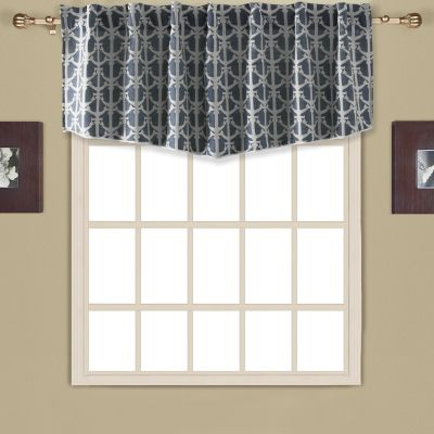 valance green blue valances bedroom floral navy yellow window striped shell