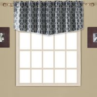 Drop Anchor Modern Ascot Valance in Navy
