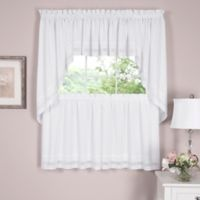 Danielle Embroidered Eyelet 36-Inch Window Tiers in White