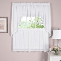 Danielle Embroidered Eyelet 38-Inch Window Swag Pair in White