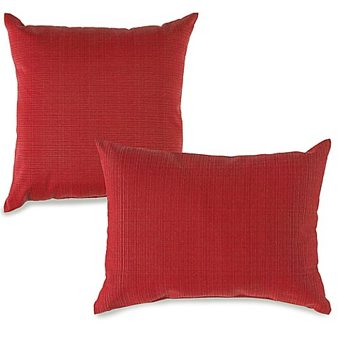 Red Throw Pillows For Bed : Outdoor Throw Pillows in Red - Bed Bath & Beyond
