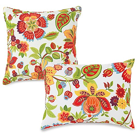 Bed Bath And Beyond Red Throw Pillows : Outdoor Throw Pillows in Telfair Red - Bed Bath & Beyond
