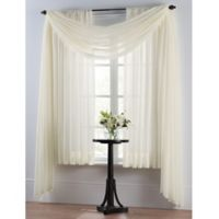Smart Sheer™ Insulating Voile 63-Inch Window Curtain Panel in Ivory