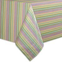 Garden Stripe 70-Inch Square Tablecloth