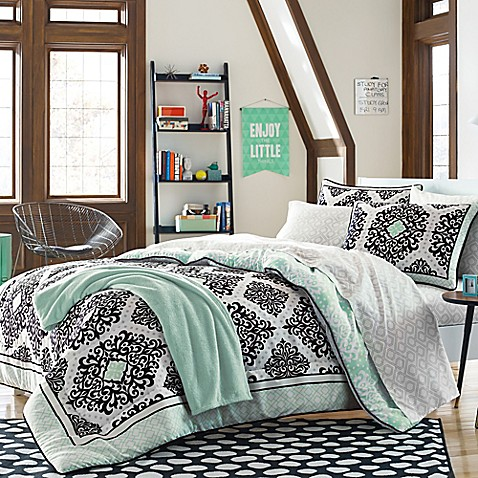 Cooper bedding kit in mint bed bath beyond - Bed bath and beyond bedroom furniture ...