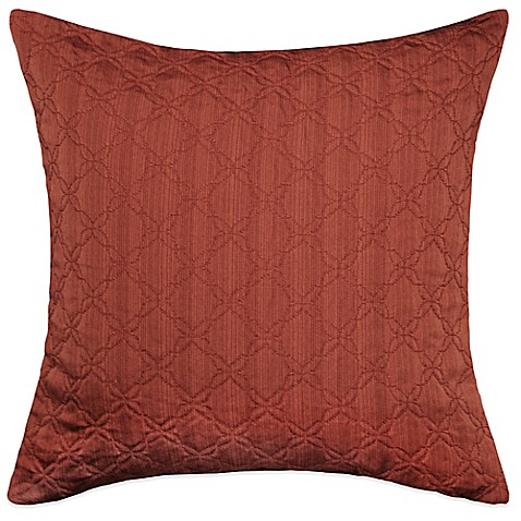 Myop Throw Pillow Covers : MYOP Simple Clover Square Throw Pillow Cover in Rust - Bed Bath & Beyond