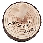 "Lillian Rose™ ""With these Rings"" Tree Trunk Ring Holder"