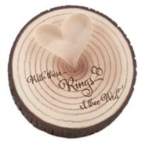 """Lillian Rose™ """"With these Rings"""" Tree Trunk Ring Holder"""