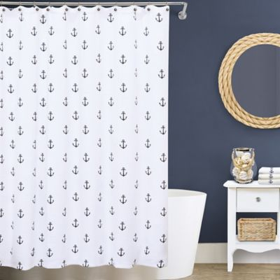Lamont Home Anchors 54 Inch X 78 Matelé Stall Shower Curtain