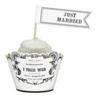 "Lillian Rose™ ""Just Married"" Cupcake Picks (Set of 12)"