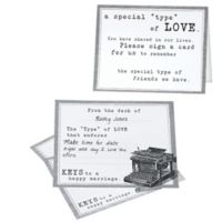 Lillian Rose™ Typewriter Guest Cards in Black/White (Set of 48)