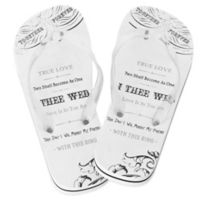 Lillian Rose™ True Love Size Large Women's Flip-Flops