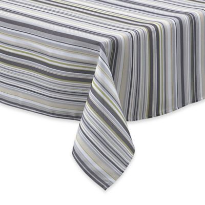 Jelly Bean Stripe 60 Inch X 84 Inch Oval Tablecloth
