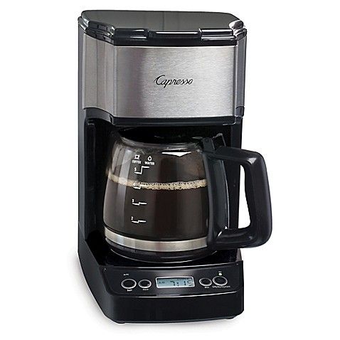 Capresso 5 Cup Minidrip Programmable Coffee Maker Bed