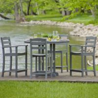 POLYWOOD® La Casa 5-Piece Outdoor Counter Dining Set in Grey