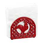Home Basics® Rooster Napkin Holder in Red