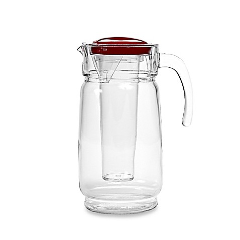 image of Home Essentials & Beyond 64 oz. Glass Pitcher with Ice Liner