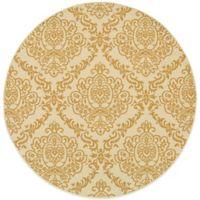 Oriental Weavers Bali Damask 7-Foot 10-Inch Round Indoor/Outdoor Rug in Ivory/Gold