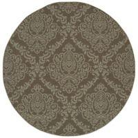 Oriental Weavers Bali Damask 7-Foot 10-Inch Round Indoor/Outdoor Rug in Grey